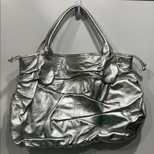 Hobo Silver Shoulder Bag